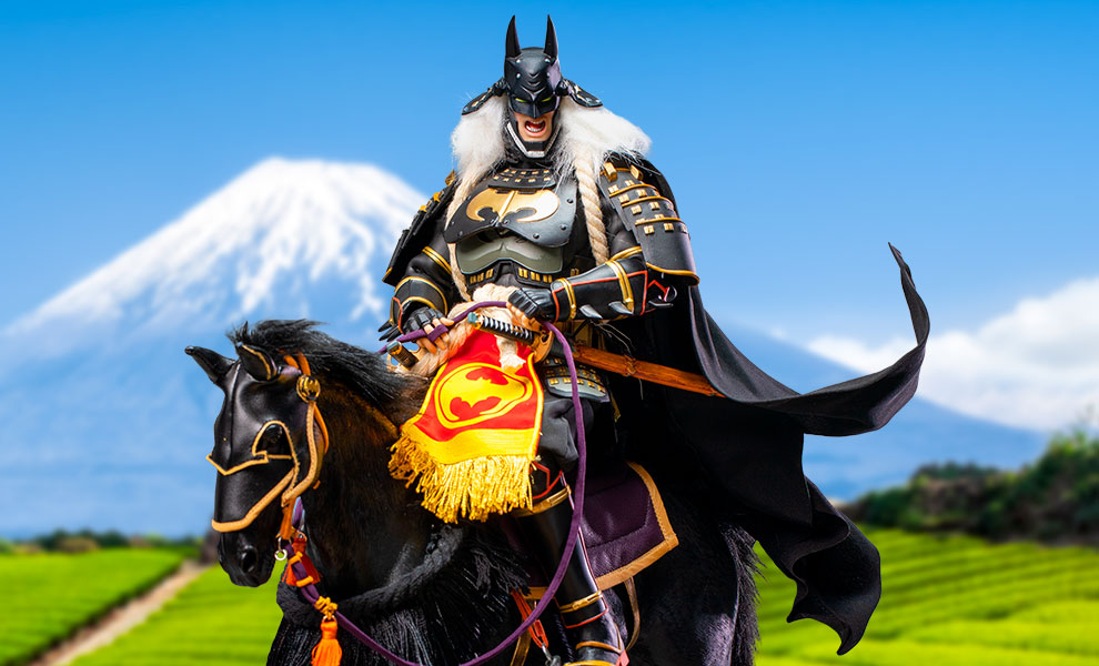 Gallery Feature Image of Ninja Batman 2.0 (Deluxe Version with Horse) Sixth Scale Figure - Click to open image gallery