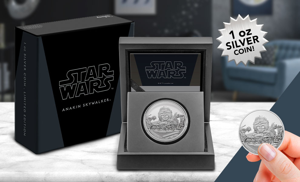 Gallery Feature Image of Anakin Skywalker 1oz Silver Coin Silver Collectible - Click to open image gallery