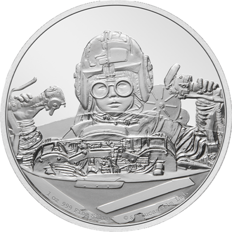 New Zealand Mint Anakin Skywalker 1oz Silver Coin Silver Collectible