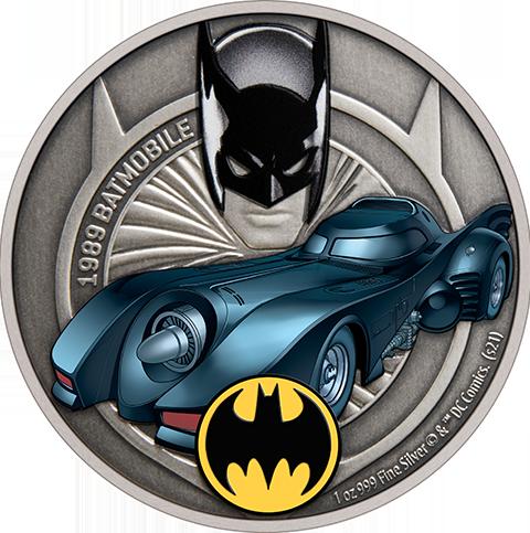 New Zealand Mint 1989 Batmobile 1oz Silver Coin Silver Collectible