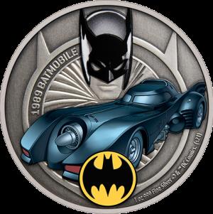 1989 Batmobile 1oz Silver Coin Silver Collectible