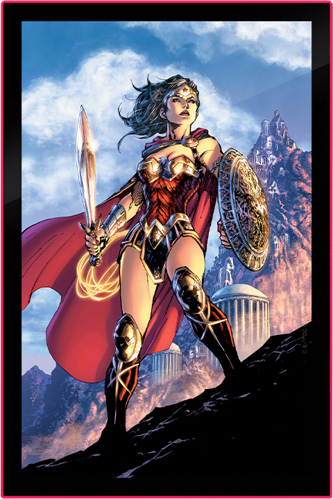 Brandlite Wonder Woman Comic Cover LED Poster Sign (Large) Wall Light