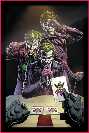 Three Jokers Comic Cover LED Poster Sign (Large) Wall Light