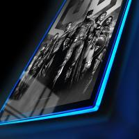 Gallery Image of Zack Snyder's Justice League B&W Group Scene LED Poster Sign (Large) Wall Light