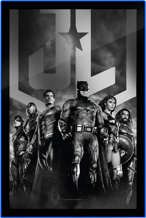 Brandlite Zack Snyder's Justice League B&W Group Scene LED Poster Sign (Large) Wall Light
