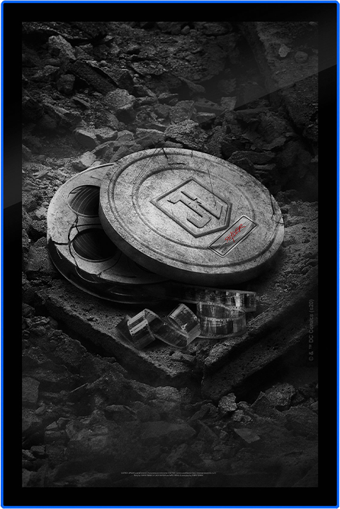 Brandlite Zack Snyder's Justice League B&W Film Can LED Poster Sign (Large) Wall Light