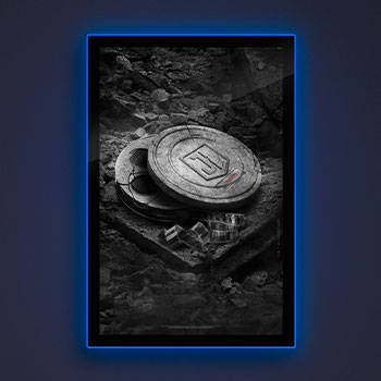 Zack Snyder's Justice League B&W Film Can LED Poster Sign (Large) Wall Light