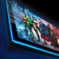 Gallery Image of Justice League of America Comic Cover LED Poster Sign (Large) Wall Light