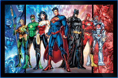 Brandlite Justice League of America Comic Cover LED Poster Sign (Large) Wall Light