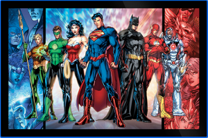 Justice League of America Comic Cover LED Poster Sign (Large) Wall Light