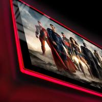 Gallery Image of Justice League of America Movie Poster LED Poster Sign (Large) Wall Light