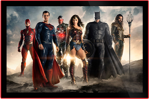 Brandlite Justice League of America Movie Poster LED Poster Sign (Large) Wall Light