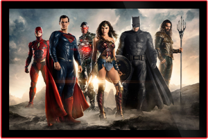Justice League of America Movie Poster LED Poster Sign (Large) Wall Light