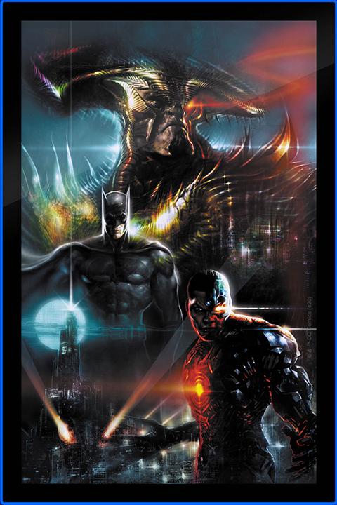 Brandlite Zack Snyder's Justice League #59C LED Poster Sign (Large) Wall Light