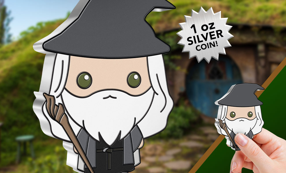 Gallery Feature Image of Gandalf the Grey 1oz Silver Coin Silver Collectible - Click to open image gallery