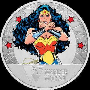 Wonder Woman 80th Anniversary 1oz Silver Coin Silver Collectible