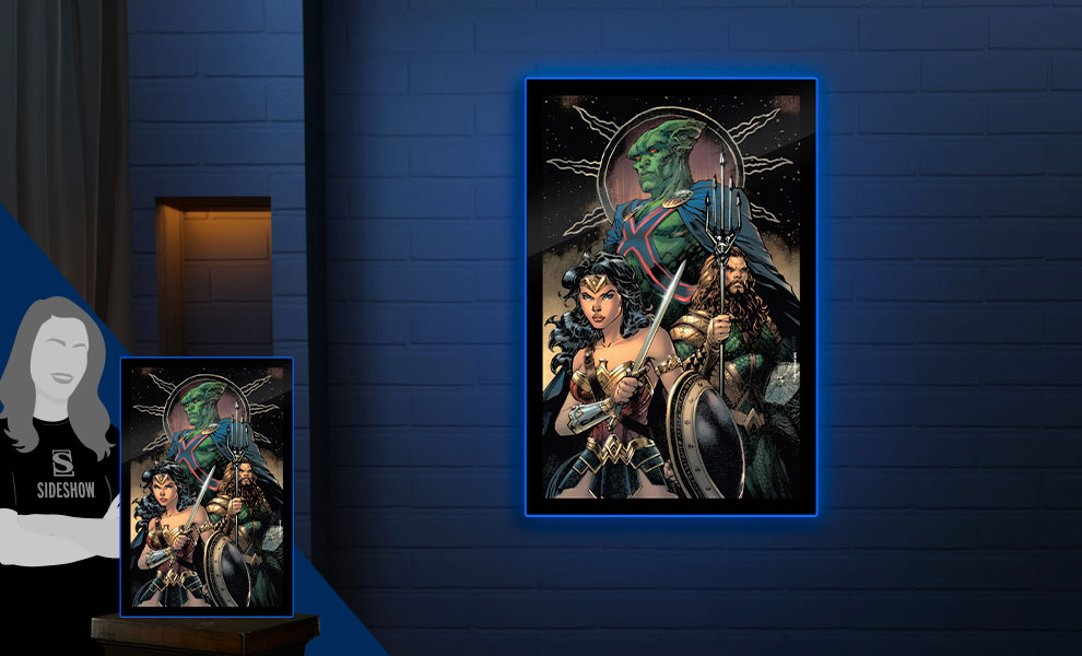 Gallery Feature Image of Zack Snyder's Justice League #59 LED Poster Sign (Large) Wall Light - Click to open image gallery