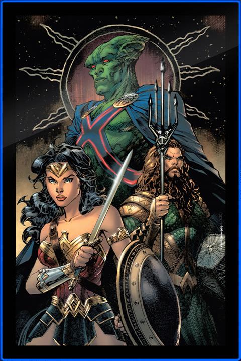 Brandlite Zack Snyder's Justice League #59 LED Poster Sign (Large) Wall Light