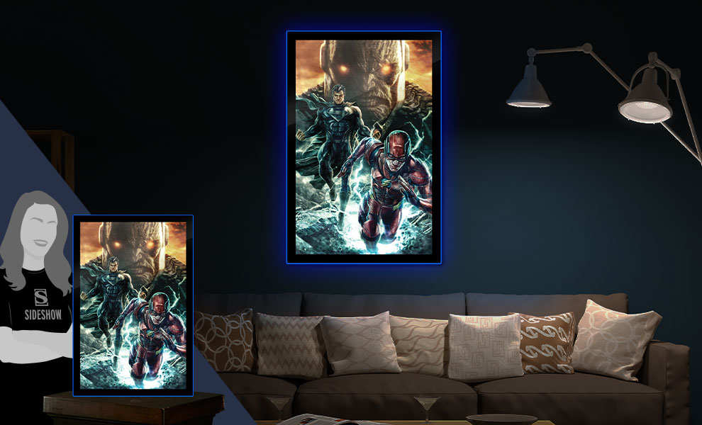 Gallery Feature Image of Zack Snyder's Justice League #59B LED Poster Sign (Large) Wall Light - Click to open image gallery