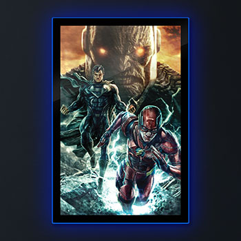 Zack Snyder's Justice League #59B LED Poster Sign (Large) Wall Light