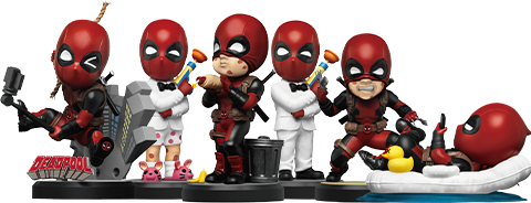 Beast Kingdom Deadpool Mini Egg Attack Series Collectible Set