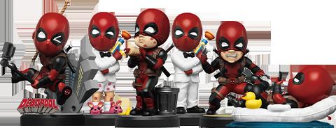 Beast Kingdom Deadpool Mini Egg Attack Series Collectible Set