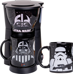 Darth Vader and Stormtrooper Single Cup Coffee Maker with Two Mugs Kitchenware