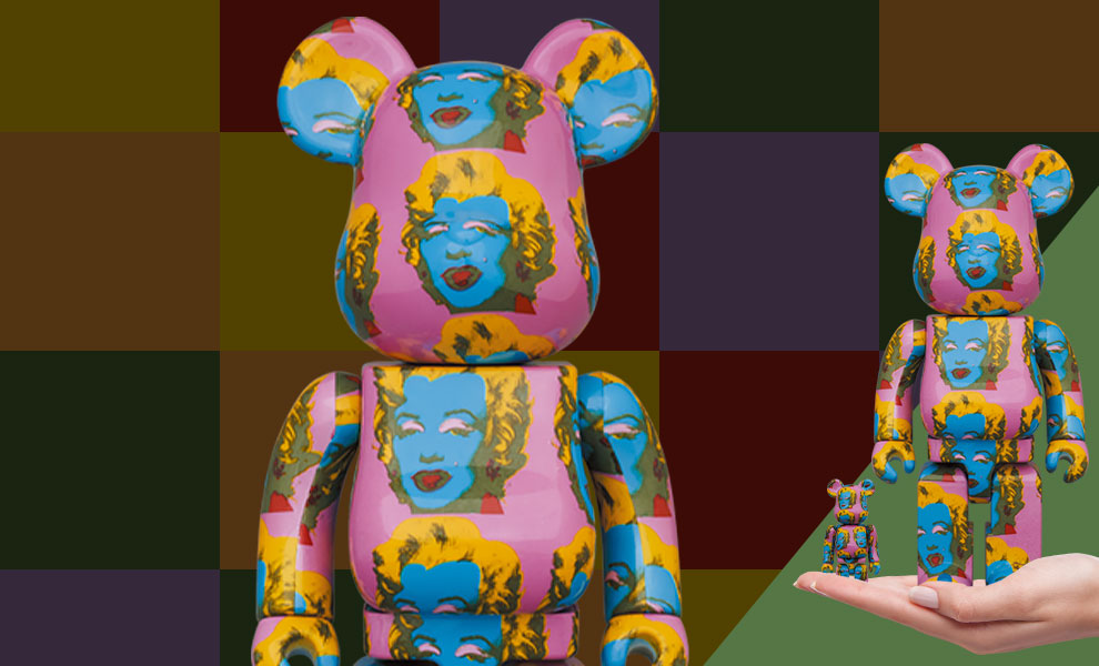 Gallery Feature Image of Be@rbrick Andy Warhol's Marilyn Monroe #2 100% & 400% Bearbrick - Click to open image gallery