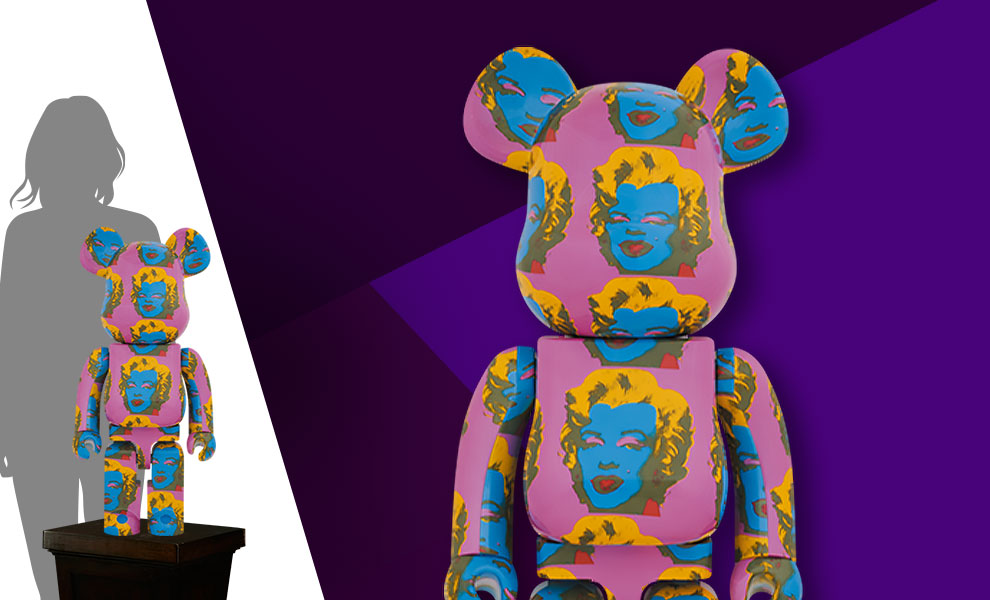Gallery Feature Image of Be@rbrick Andy Warhol's Marilyn Monroe #2 1000% Bearbrick - Click to open image gallery