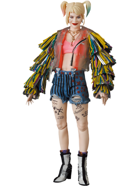 Medicom Toy Harley Quinn (Caution Tape Jacket Version) Collectible Figure