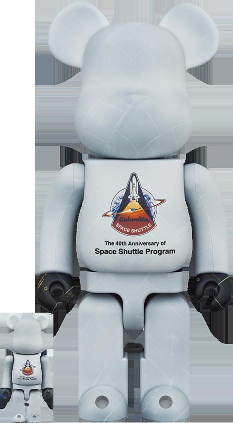 Medicom Toy Be@rbrick Space Shuttle 100% & 400% Bearbrick