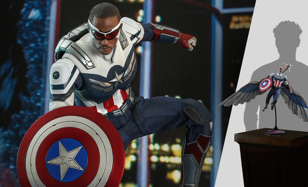 Gallery Feature Image of Captain America Sixth Scale Figure - Click to open image gallery