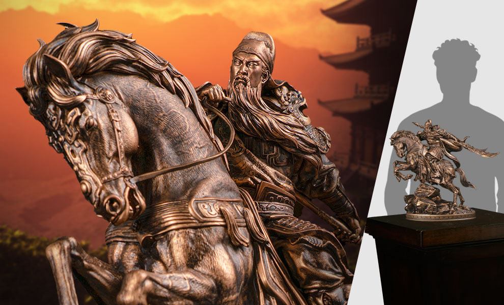 Gallery Feature Image of Three Kingdoms Generals Guan Yu Bronzed Statue - Click to open image gallery