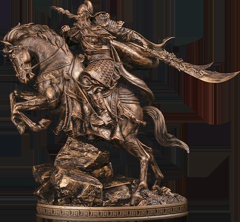 Infinity Studio Three Kingdoms Generals Guan Yu Bronzed Statue