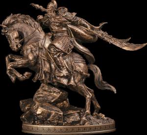 Three Kingdoms Generals Guan Yu Bronzed Statue