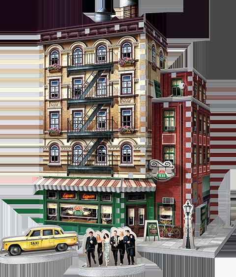 Wrebbit Puzzles Inc. Central Perk 3D Puzzle Puzzle