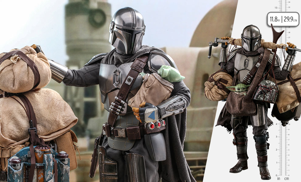 Gallery Feature Image of The Mandalorian™ and Grogu™ (Deluxe Version) Sixth Scale Figure Set - Click to open image gallery