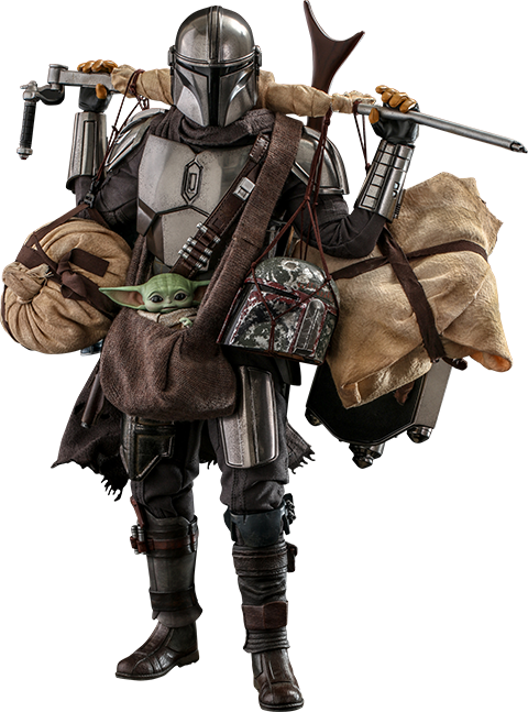 Hot Toys The Mandalorian™ and Grogu™ (Deluxe Version) Sixth Scale Figure Set