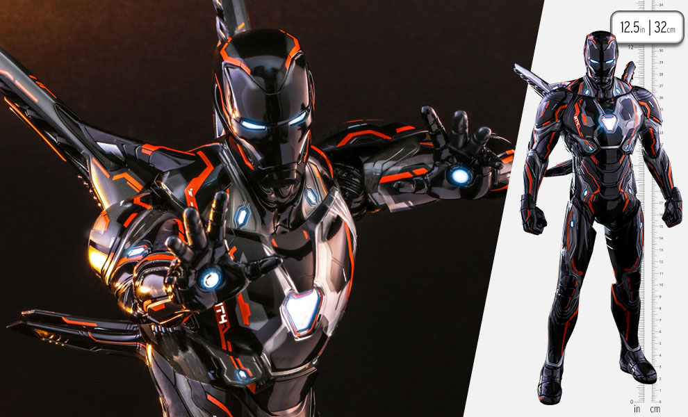 Gallery Feature Image of Iron Man Neon Tech 4.0 Sixth Scale Figure - Click to open image gallery