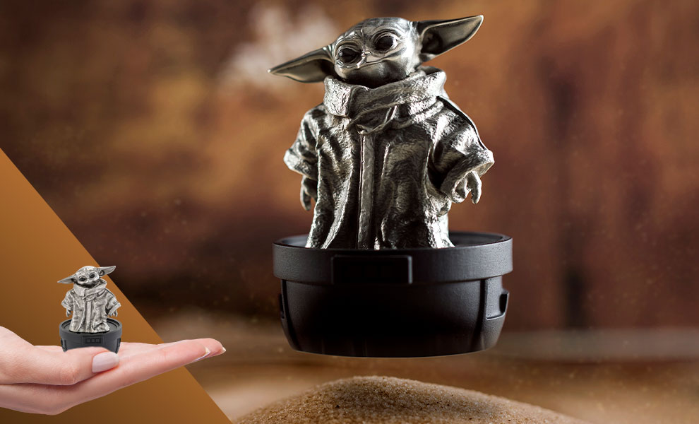 Gallery Feature Image of Grogu Limited Edition Figurine Pewter Collectible - Click to open image gallery