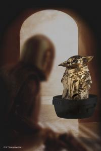 Gallery Image of Grogu (Gilt) Limited Edition Pewter Collectible