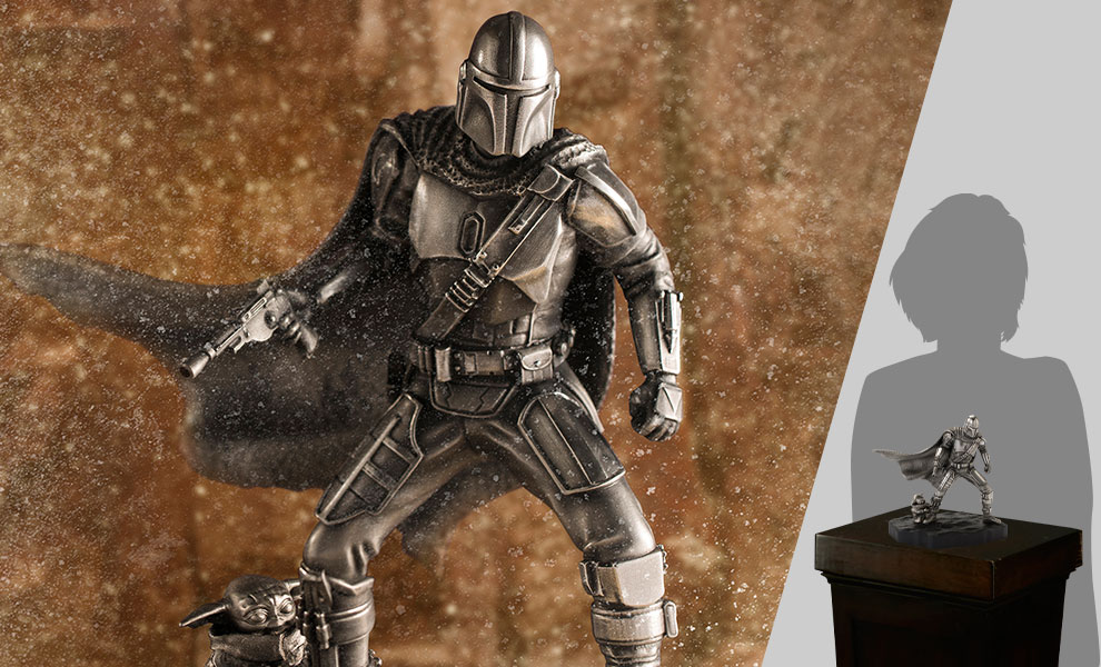 Gallery Feature Image of Mandalorian Limited Edition Figurine Pewter Collectible - Click to open image gallery