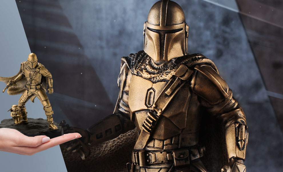 Gallery Feature Image of Mandalorian (Gilt) Limited Edition Figurine Pewter Collectible - Click to open image gallery