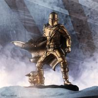 Gallery Image of Mandalorian (Gilt) Limited Edition Figurine Pewter Collectible