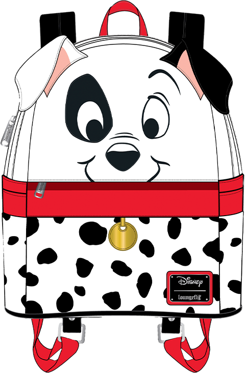 Loungefly 101 Dalmatians 70th Anniversary Cosplay Mini Backpack Apparel