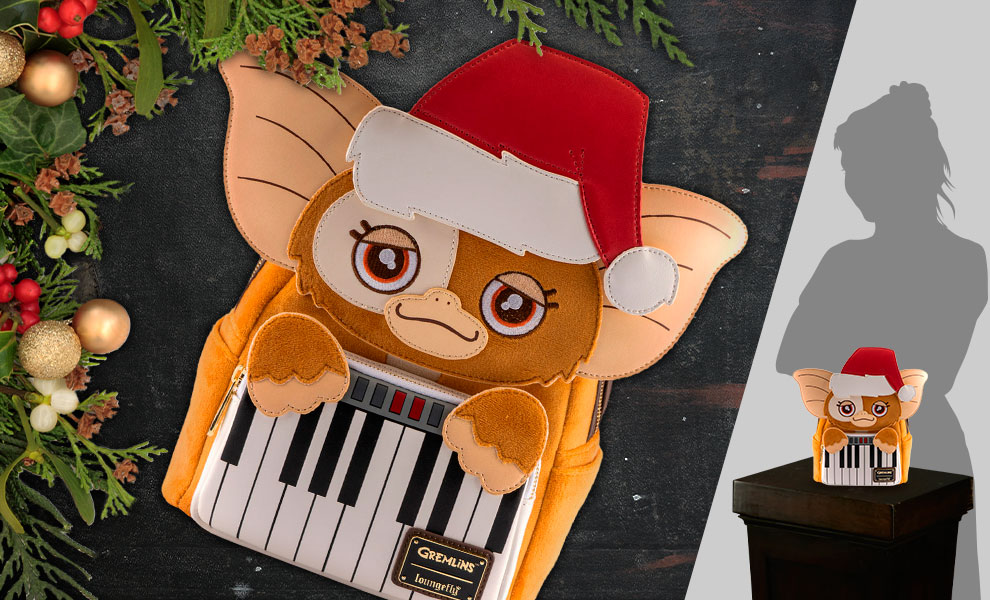 Gallery Feature Image of Gizmo Holiday Cosplay Mini Backpack with Removeable Hat Apparel - Click to open image gallery