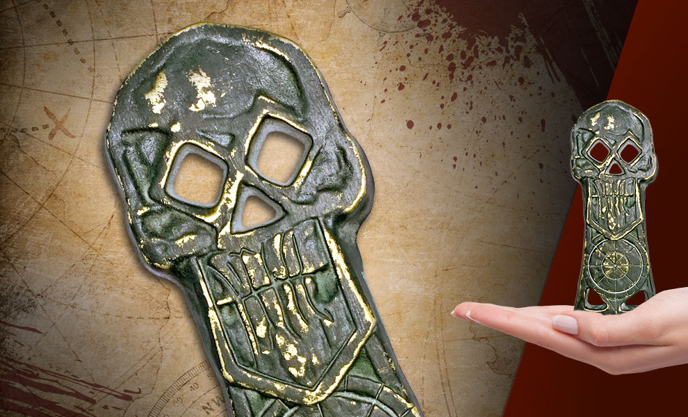 Gallery Feature Image of Copper Bones Skeleton Key (Limited Edition) Prop Replica - Click to open image gallery