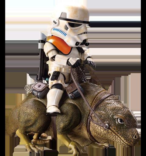 Beast Kingdom Dewback and Sandtrooper Action Figure