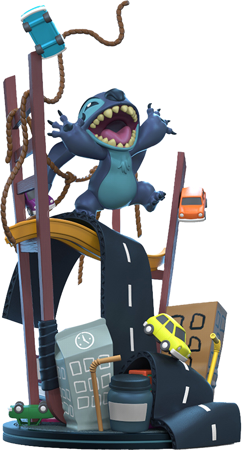 Quantum Mechanix Stitch x San Francisco Q-Fig Max Elite Collectible Figure