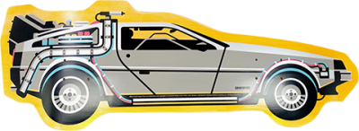 Back to The Future Part I DeLorean Shaped Skateboard Deck